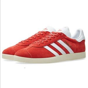 Adidas GAZELLE SHOES SNEAKERS Women's Red Sz 6 NIB